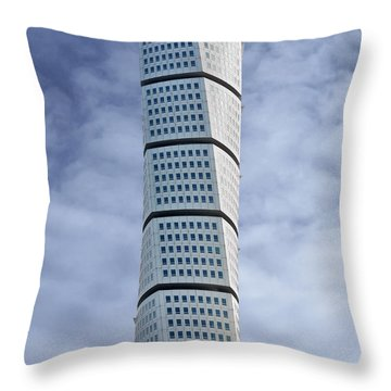 Twisted Architecture Throw Pillow