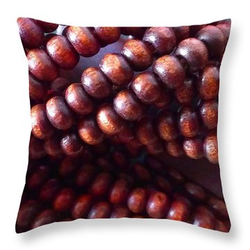 Twisted Beads Throw Pillow by Catherine Ratliff