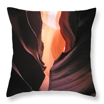 Throw Pillow featuring the photograph Twisted Canyon by Marcia Socolik