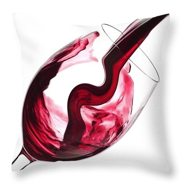 Twisted Flavour Red Wine Throw Pillow