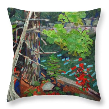 Twisted Island Throw Pillow