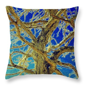 Throw Pillow featuring the photograph Twisted by Jodie Marie Anne Richardson Traugott          aka jm-ART
