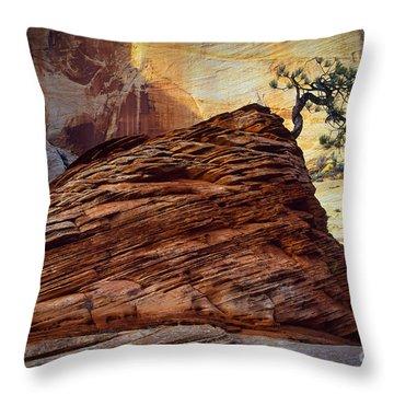 Twisted Juniper Throw Pillow