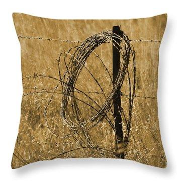 Twisted - Sepia Throw Pillow