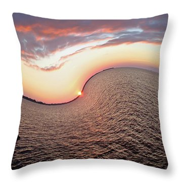 Twisted Sunset Throw Pillow by Aimee L Maher Photography and Art Visit ALMGallerydotcom