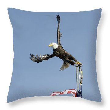 Twisted Take-off Throw Pillow