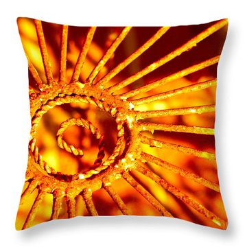 Twisted Trust Throw Pillow by Cathy Dee Janes