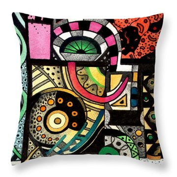 Twisting And Turning Throw Pillow