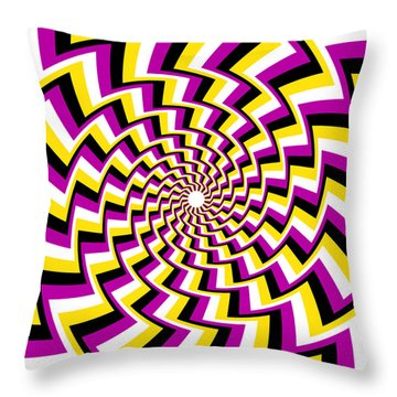 Twisting Spiral Throw Pillow