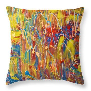 Twitters Followers Throw Pillow by Artist Ai