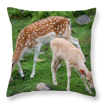 Two Babes Throw Pillow