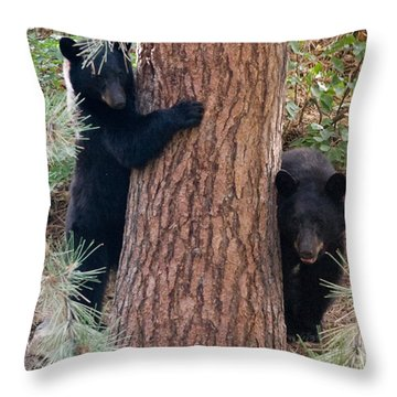 Two Bears Throw Pillow