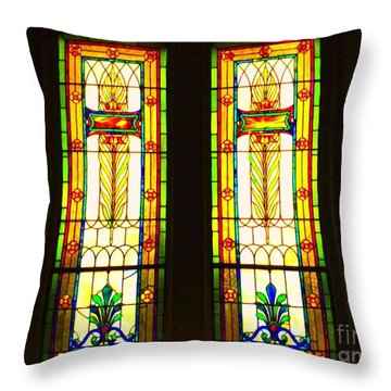 Two Beauties Throw Pillow