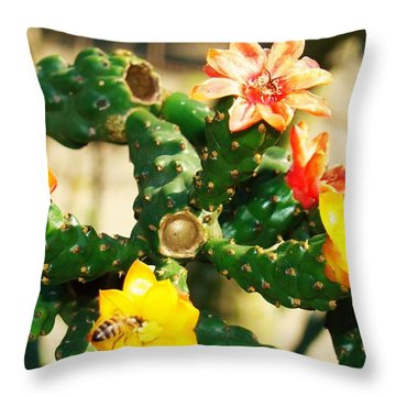 Two Bee Throw Pillow