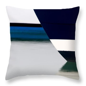 Two Boats Edgartown Throw Pillow by CJ Middendorf
