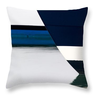 Two Boats Moored Throw Pillow by CJ Middendorf