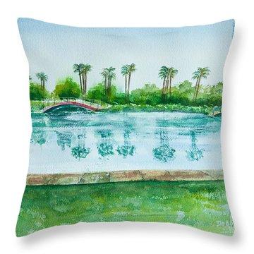 Two Bridges At Rainbow Lagoon Throw Pillow