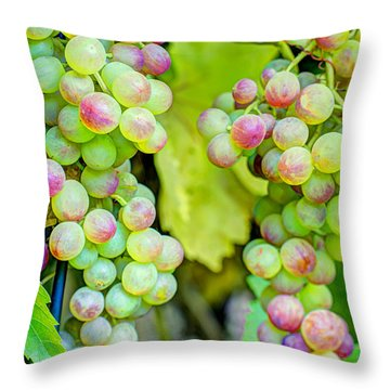 Two Bunches Throw Pillow by Heidi Smith