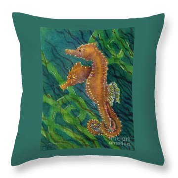 Two By Sea Throw Pillow by Amy Kirkpatrick