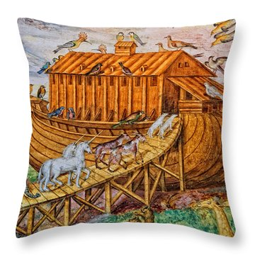 Throw Pillow featuring the photograph Two By Two by Nigel Fletcher-Jones