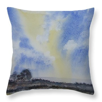 Two Color Sky Throw Pillow