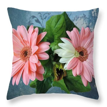 Two Colors In One Gerber Throw Pillow