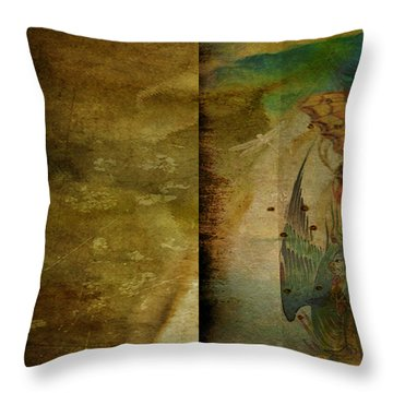 Two Delicate Screens Throw Pillow by Sarah Vernon