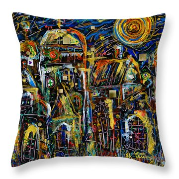 Two Domes Throw Pillow by Maxim Komissarchik