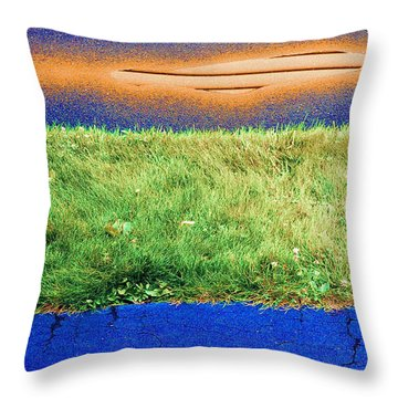 Throw Pillow featuring the photograph Two Driveways 2 Sat.2 Pd 2  by Lyle Crump