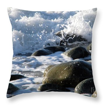 Two Elements Throw Pillow by Jola Martysz