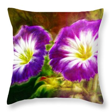 Two Eyes Of Heaven Throw Pillow by Lilia D