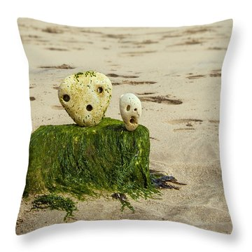 Two Faces Throw Pillow by Svetlana Sewell