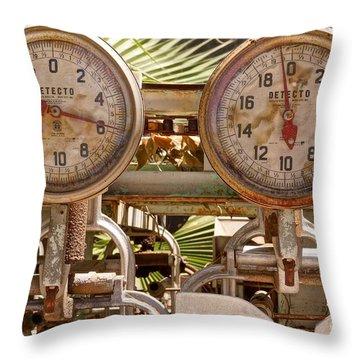 Two Farm Scales Throw Pillow by Kerri Mortenson