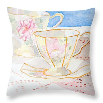 Two For Tea Throw Pillow