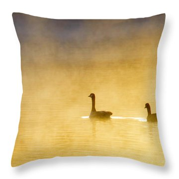 Two Geese Throw Pillow by Tommytechno Sweden
