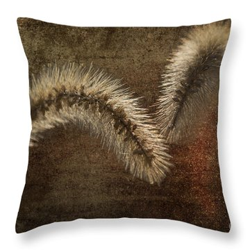 Two Grass Flowers Throw Pillow by Heiko Koehrer-Wagner