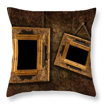 Two Hanging Frames Throw Pillow by Amanda Elwell