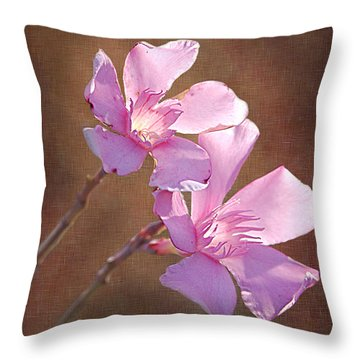Two Heads In The Pink Throw Pillow