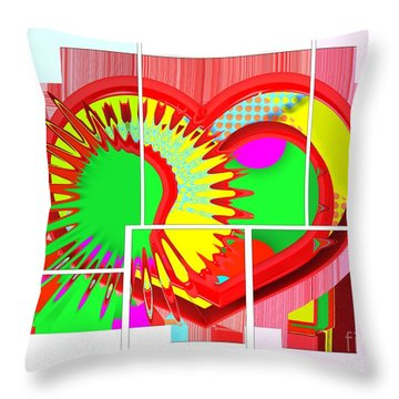 Two Hearts Are Better Than One Throw Pillow by Liane Wright