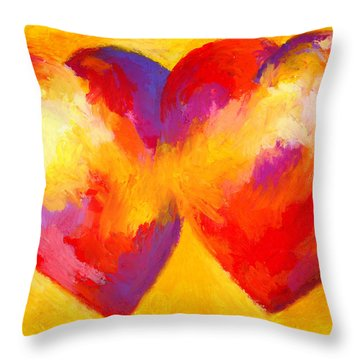 Two Hearts Beat As One Throw Pillow by Stephen Anderson