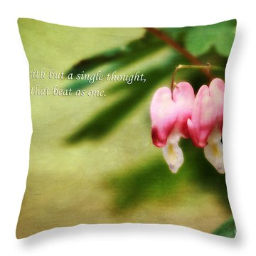 Two Hearts Throw Pillow by Darren Fisher