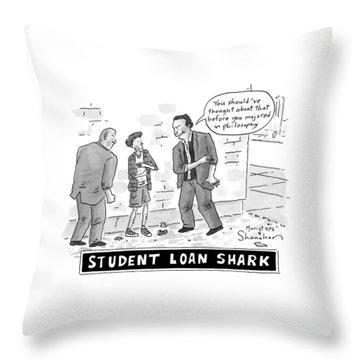 Two Henchman -- Student Loan Sharks -- Approach Throw Pillow