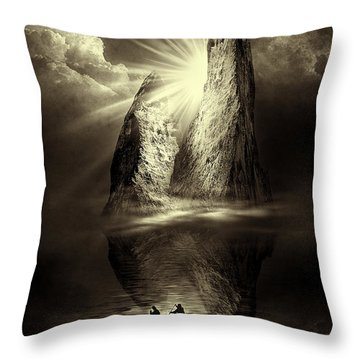 Two In A Boat Throw Pillow by Svetlana Sewell