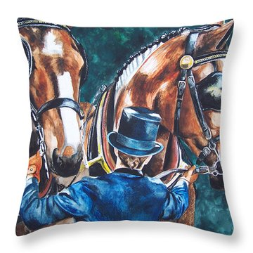 Two In Hand Throw Pillow