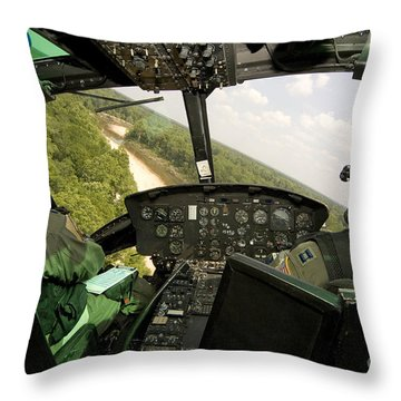 Two Instructor Pilots Practice Low Throw Pillow