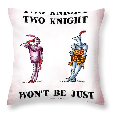 Two Knight Two Knight Throw Pillow by Mark Armstrong