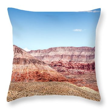 Two Layered Mountains Throw Pillow