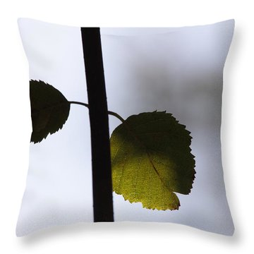 Two Leaves Throw Pillow by Ulrich Kunst And Bettina Scheidulin