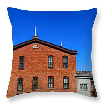 Two Lights Throw Pillow by Olivier Le Queinec