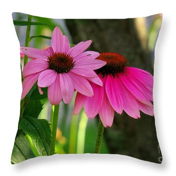 Two Little Peggies Throw Pillow by France Laliberte